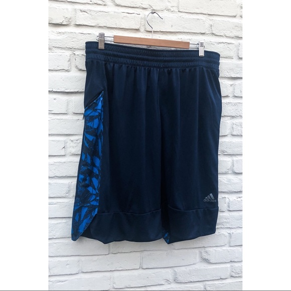 blue adidas basketball shorts